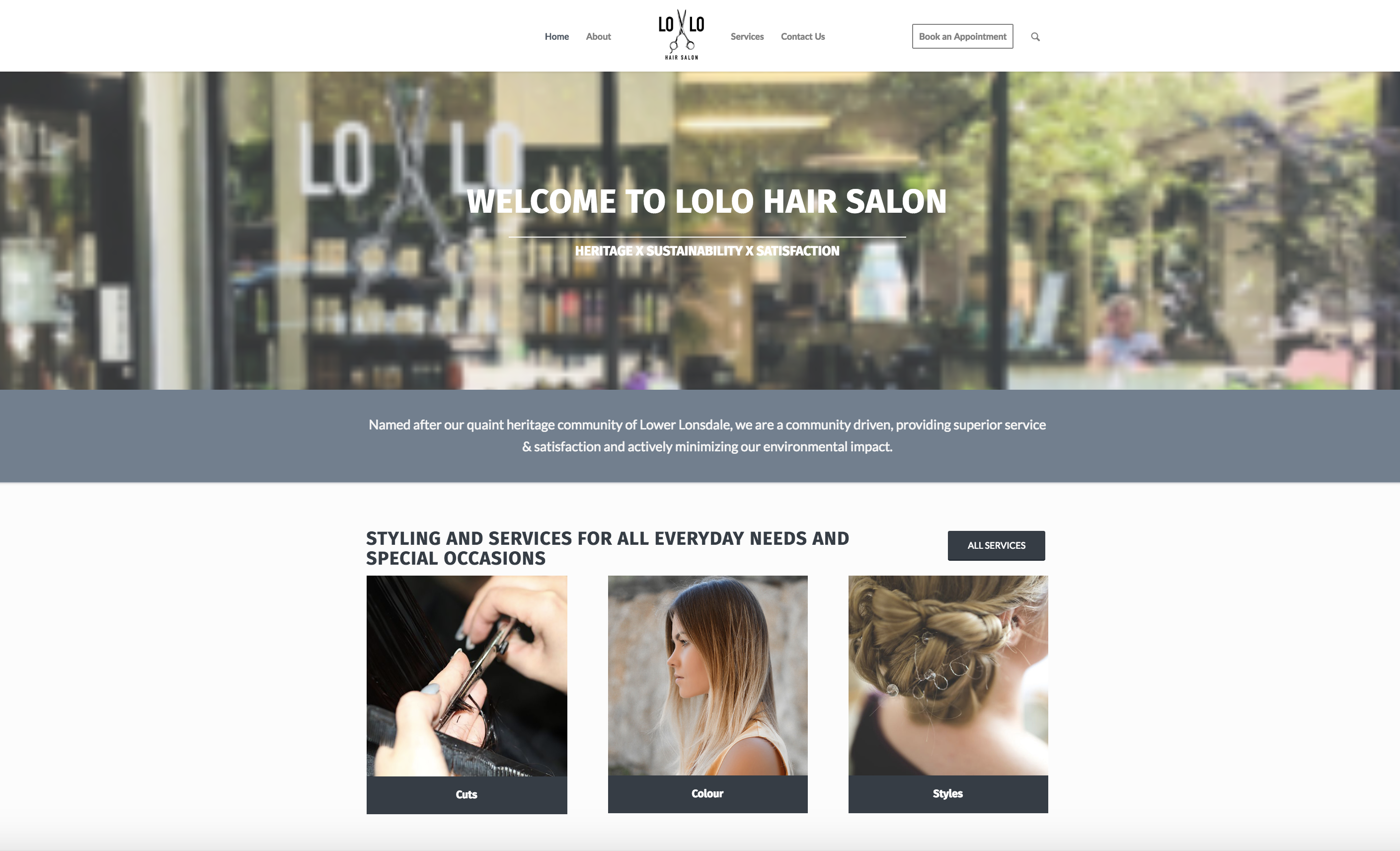 LoLo Hair Salon new home page